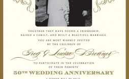 001 Outstanding 50th Wedding Anniversary Invitation Card Sample Picture  Wording