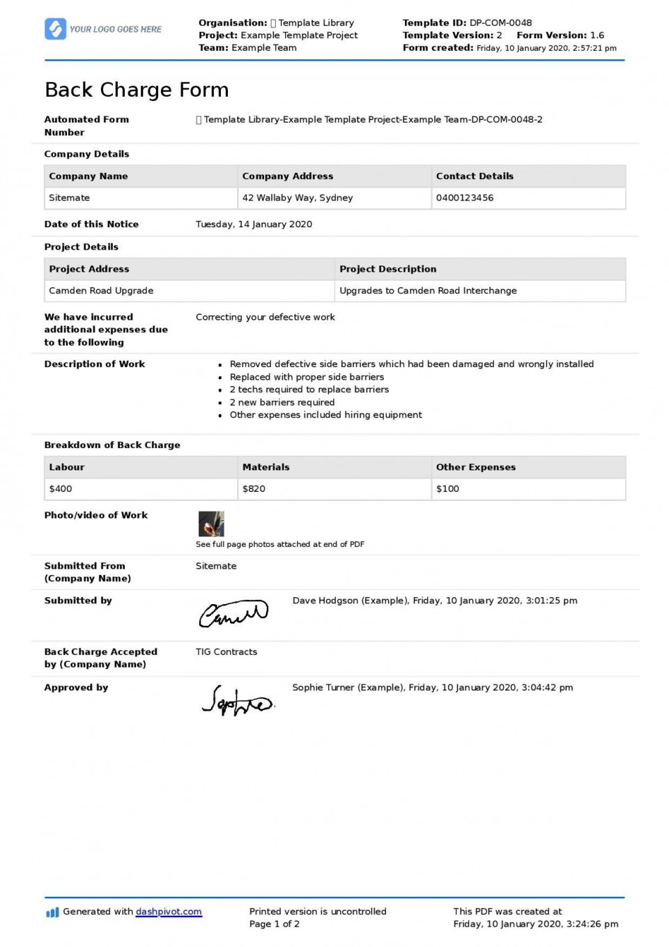 001 Outstanding Construction Busines Form Template Image 960