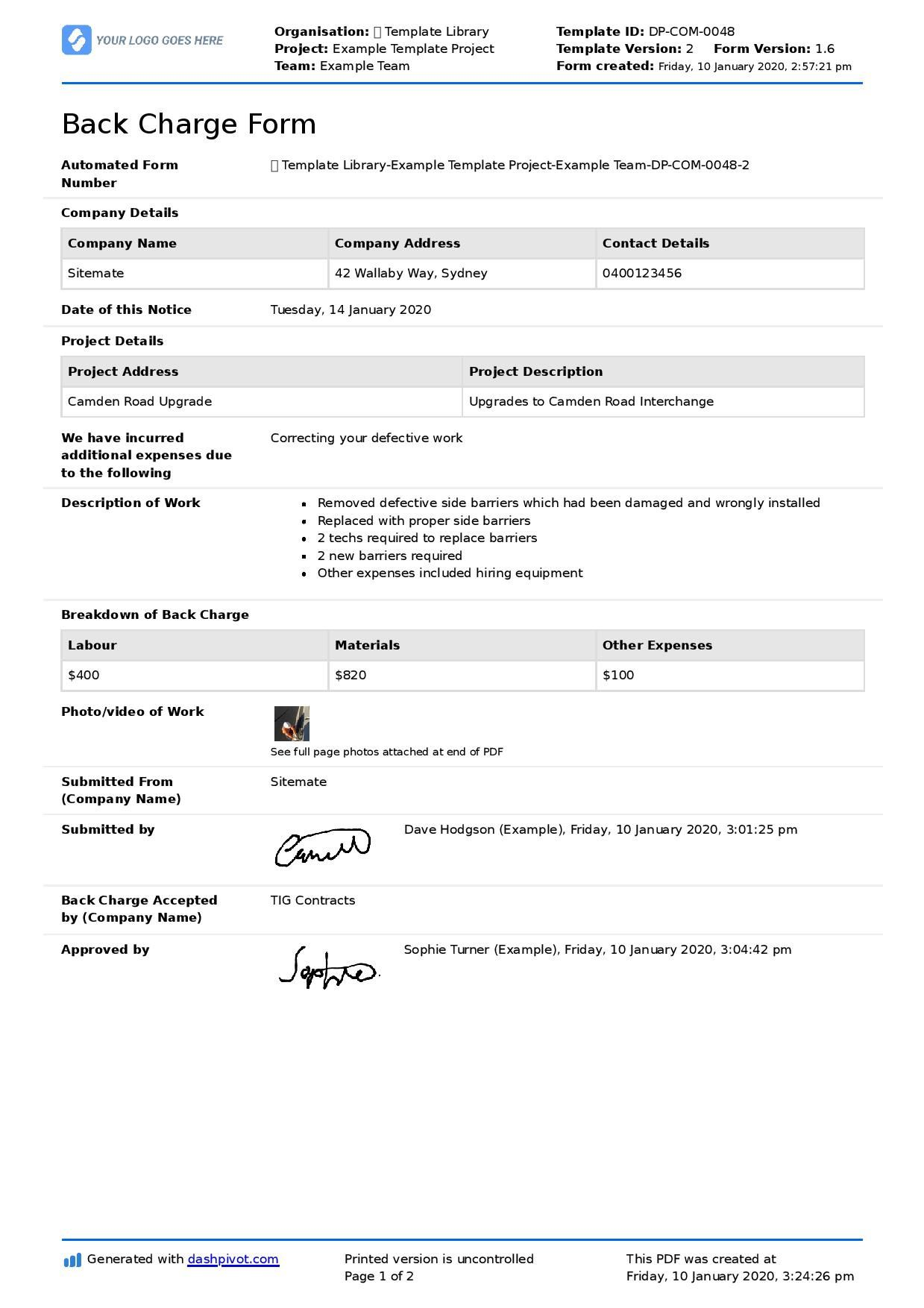 001 Outstanding Construction Busines Form Template Image