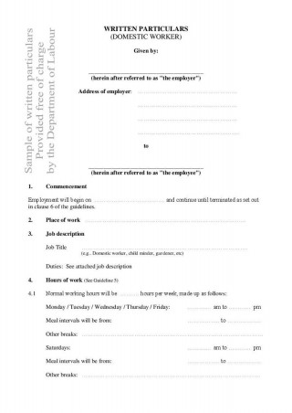 001 Outstanding Free Basic Employment Contract Template South Africa Sample  Temporary320