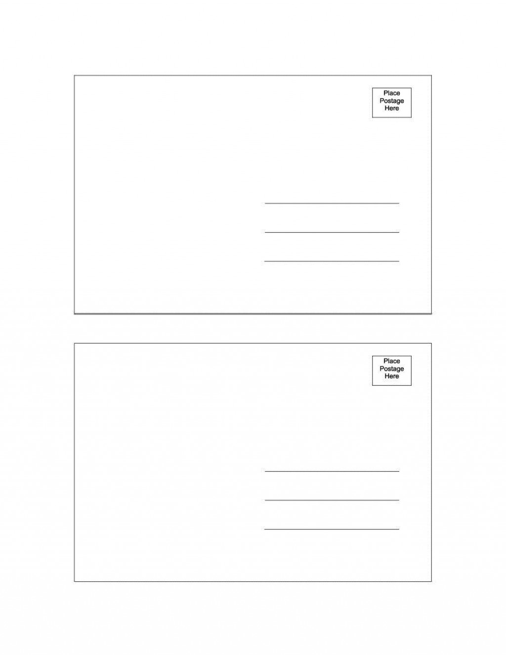 001 Outstanding Free Blank Postcard Template For Word Inspiration  Printable MicrosoftLarge