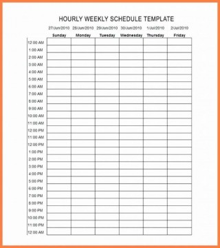 001 Outstanding Free Hourly Schedule Template Word Highest Quality 320