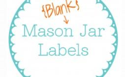 001 Outstanding Mason Jar Label Template Idea  Word Avery