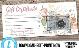 001 Outstanding Photography Session Gift Certificate Template Highest Quality  Photo Free