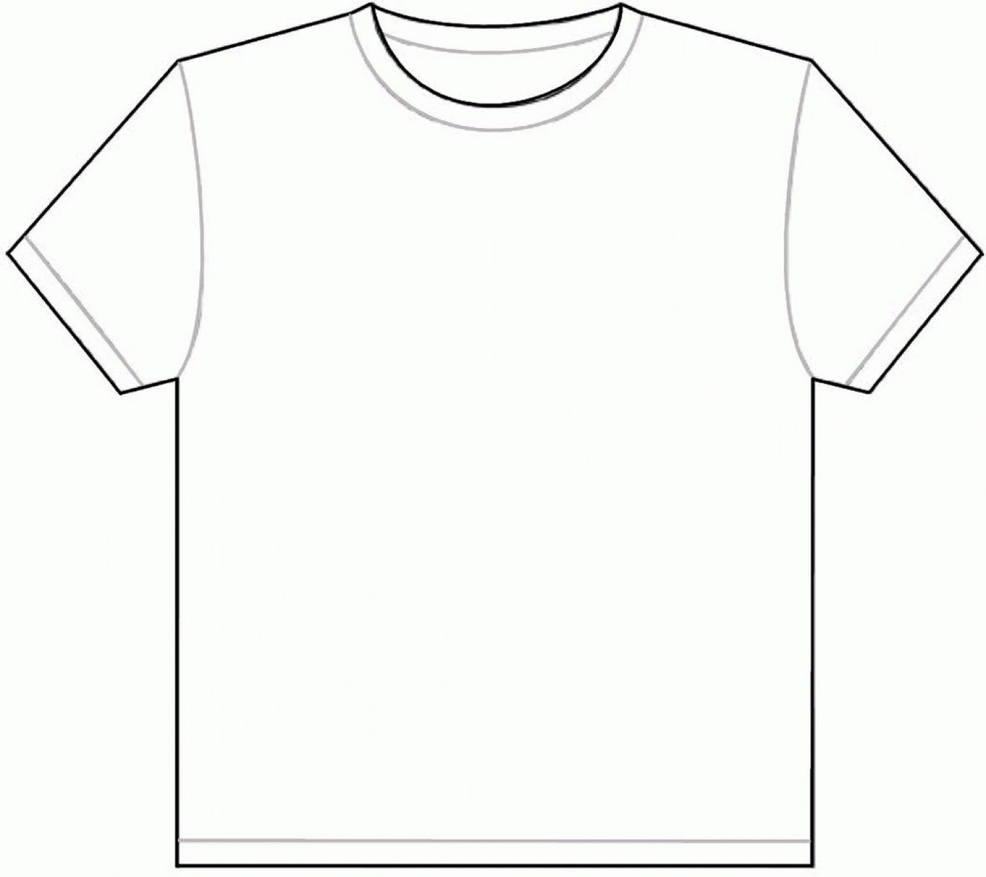 001 Outstanding Plain T Shirt Template Picture  Blank Front And Back1400