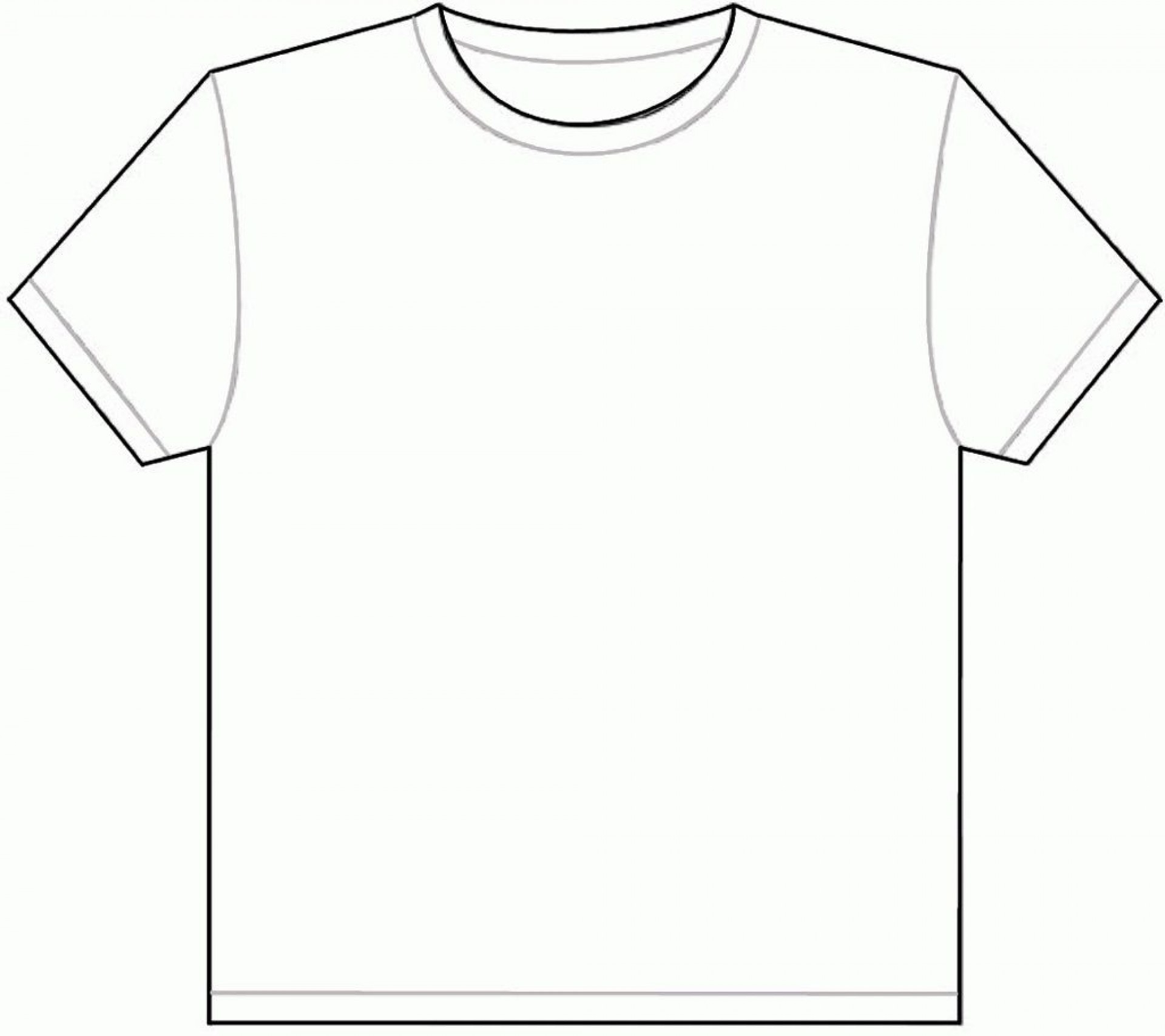 001 Outstanding Plain T Shirt Template Picture  Blank Front And Back1920