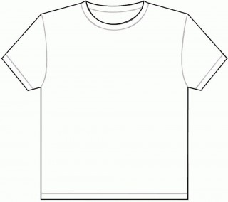 001 Outstanding Plain T Shirt Template Picture  Blank Front And Back320