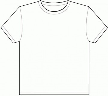 001 Outstanding Plain T Shirt Template Picture  Blank Front And Back360