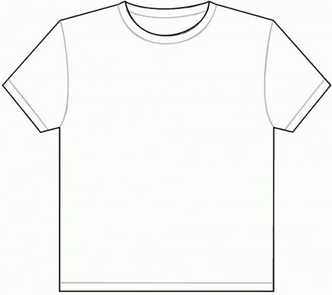 001 Outstanding Plain T Shirt Template Picture  Blank Front And Back480