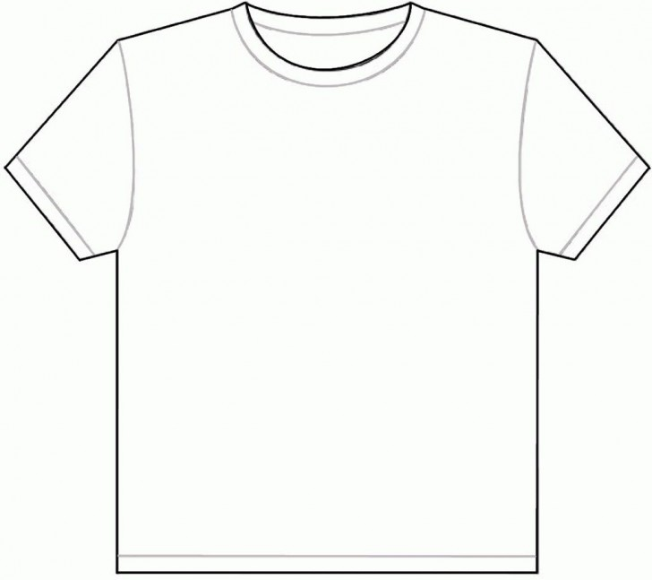 001 Outstanding Plain T Shirt Template Picture  Blank Front And Back728