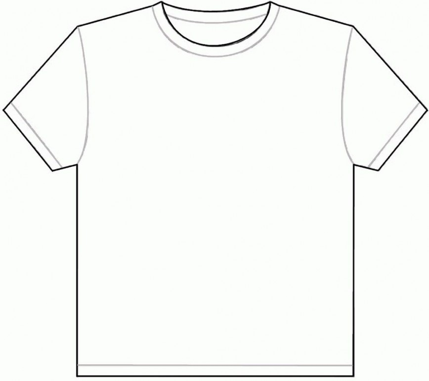 001 Outstanding Plain T Shirt Template Picture  Blank Front And Back868