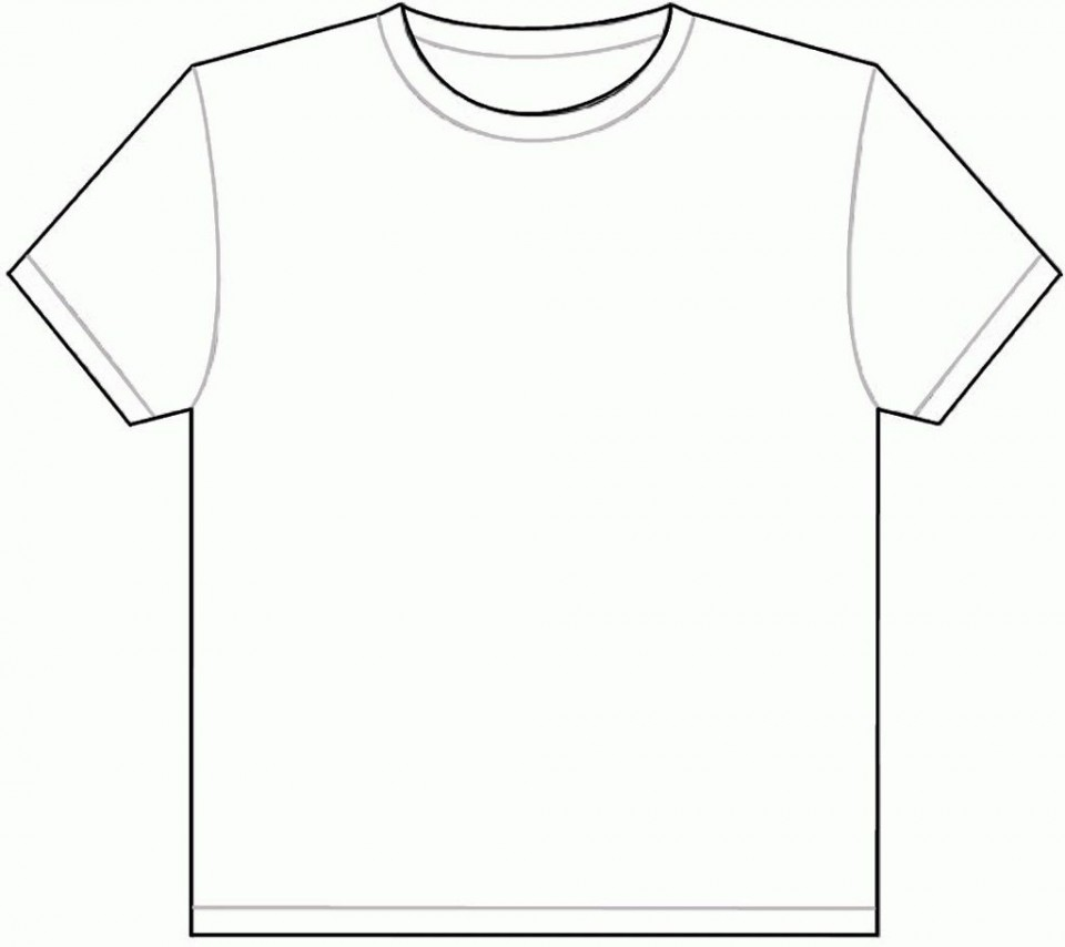 001 Outstanding Plain T Shirt Template Picture  Blank Front And Back960