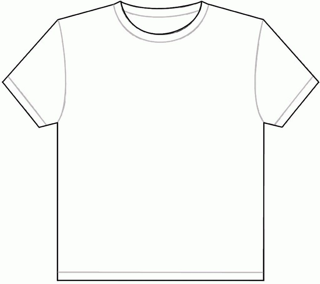 001 Outstanding Plain T Shirt Template Picture  Blank Front And BackFull