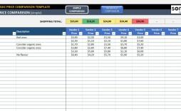 001 Outstanding Price Comparison Excel Template Idea  Download Budget Vendor