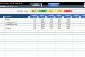 001 Outstanding Price Comparison Excel Template Idea  Competitor Download