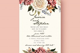 001 Outstanding Printable Wedding Invitation Template Highest Quality  Free For Microsoft Word Vintage