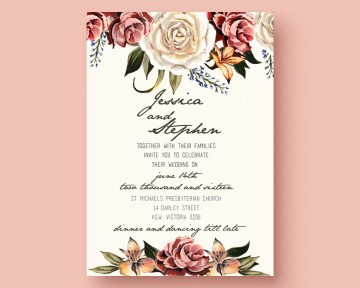 001 Outstanding Printable Wedding Invitation Template Highest Quality  Free For Microsoft Word Vintage360