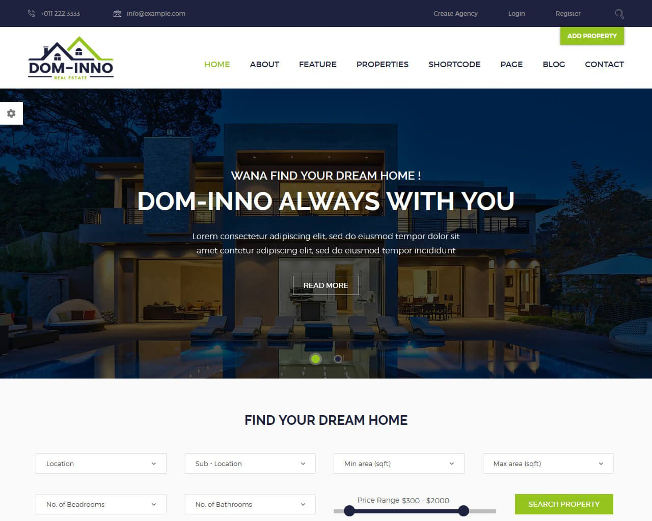 001 Outstanding Real Estate Agent Website Template Example  Templates Agency Responsive Free Download Company WebFull