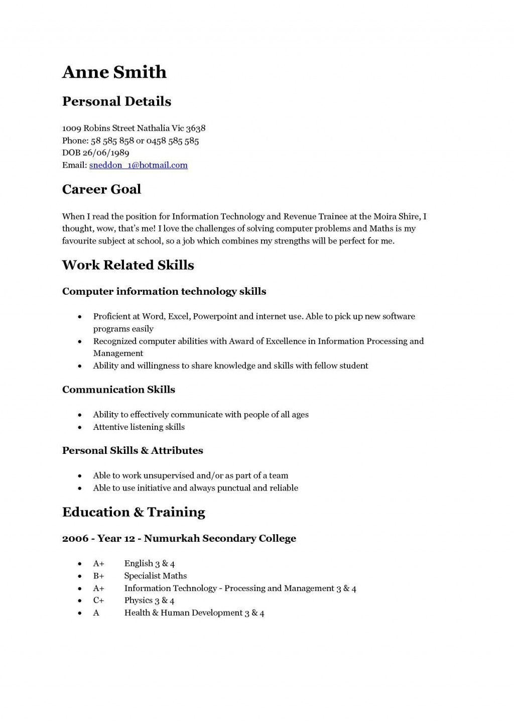 001 Outstanding Resume Template For Teen Picture  TeensLarge