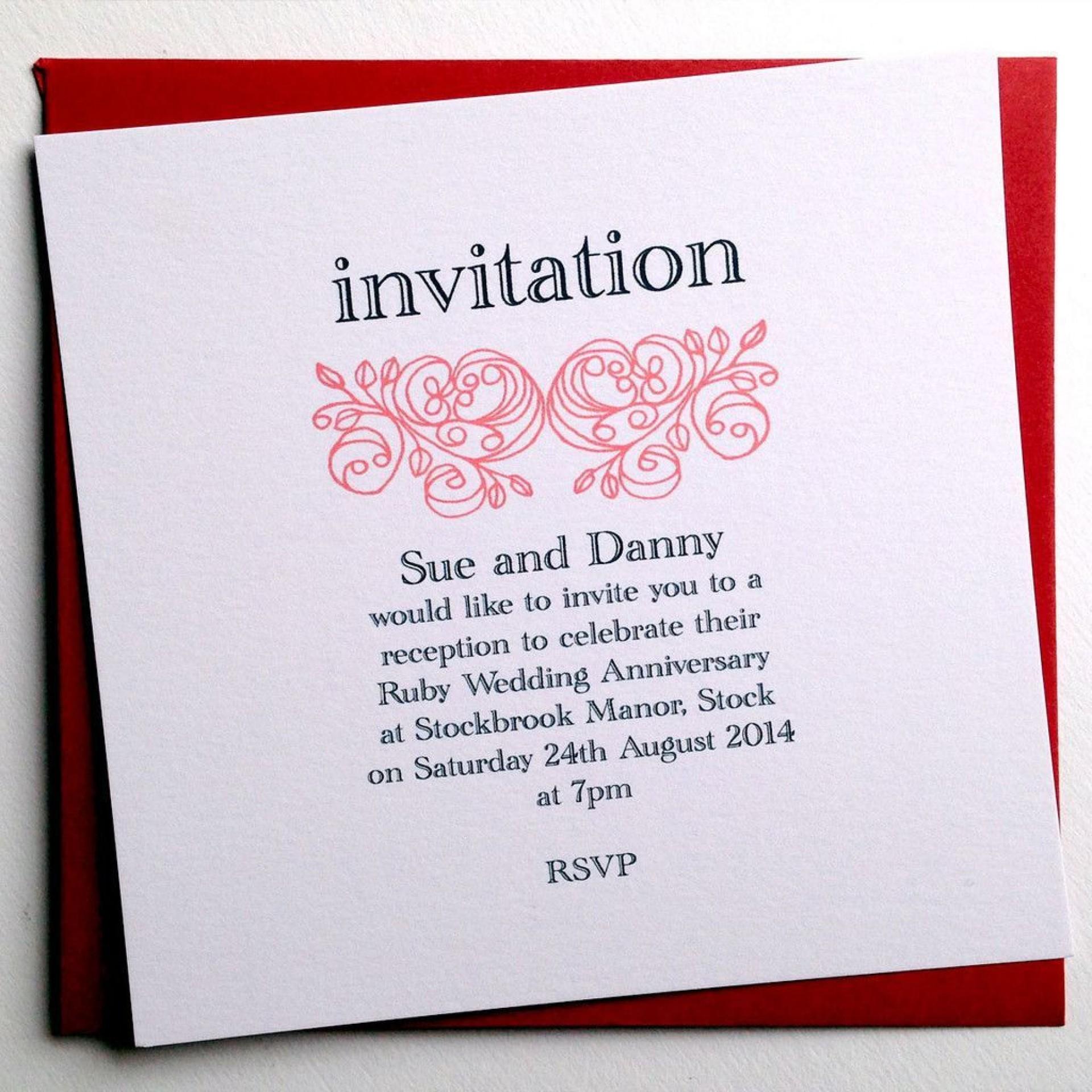 001 Phenomenal 50th Anniversary Invitation Wording Sample Concept  Samples Wedding Card1920