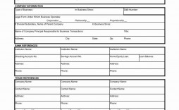 001 Phenomenal Busines Credit Application Template Excel Design  Form