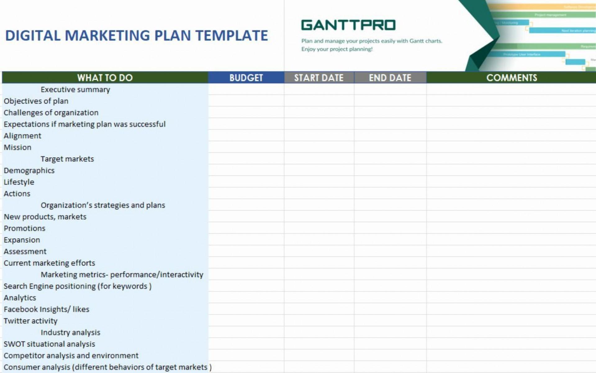 001 Phenomenal Digital Marketing Plan Example Doc Photo  Template Sample1920