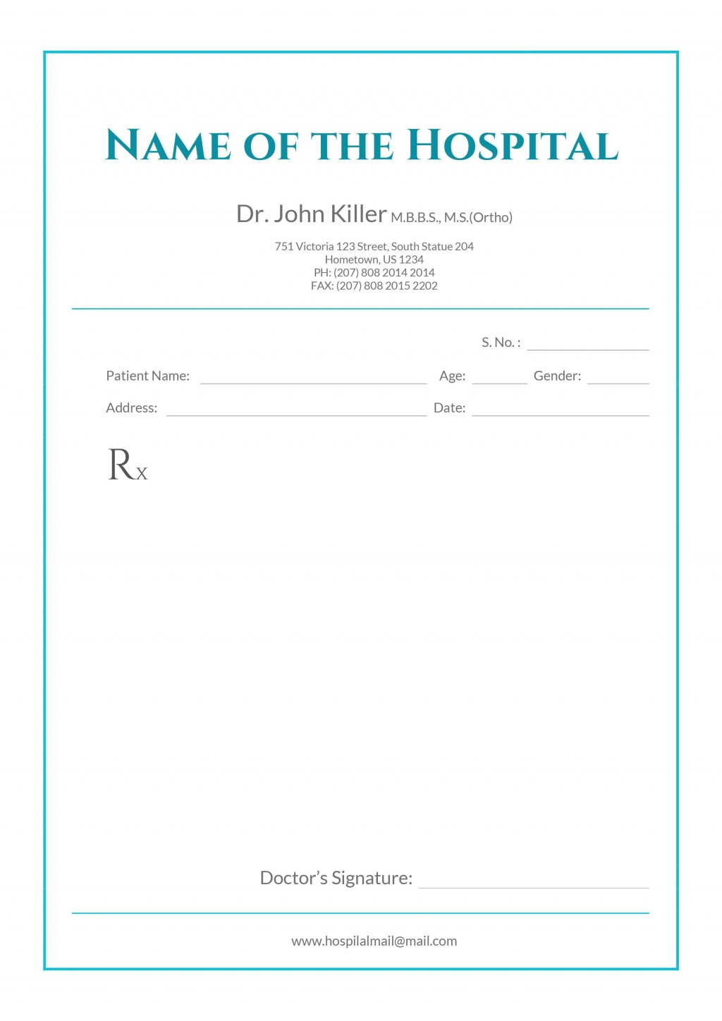 001 Phenomenal Doctor Note Template Word High Resolution  Fake Document For WorkLarge