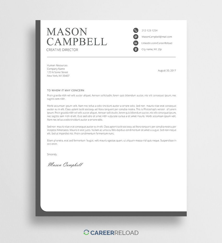 001 Phenomenal Free Cover Letter Template Download High Def  Word Doc ModernFull