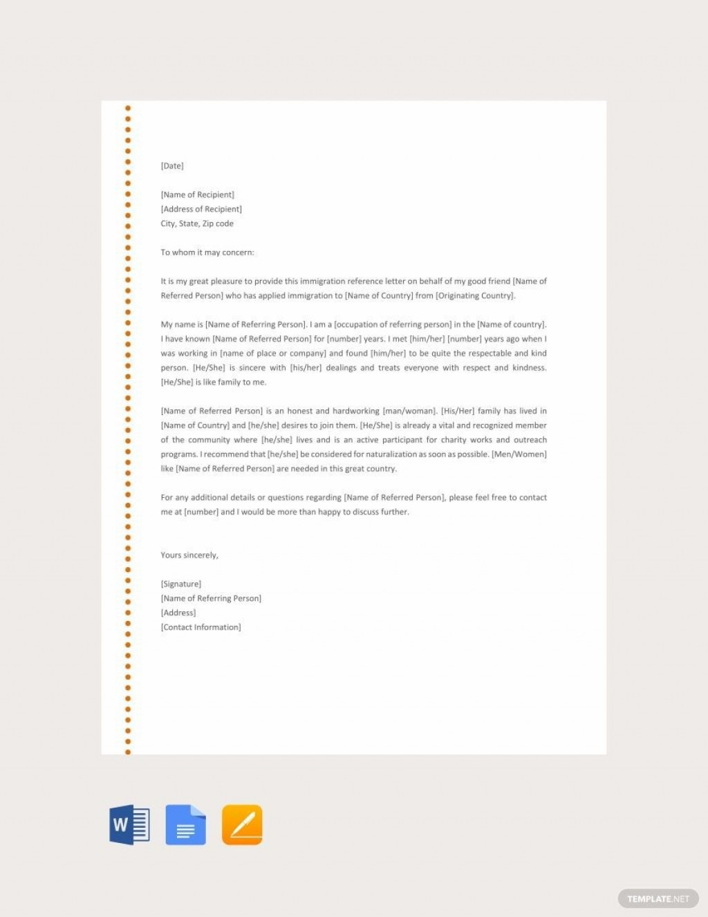 001 Phenomenal Free Reference Letter Template Download Example Large