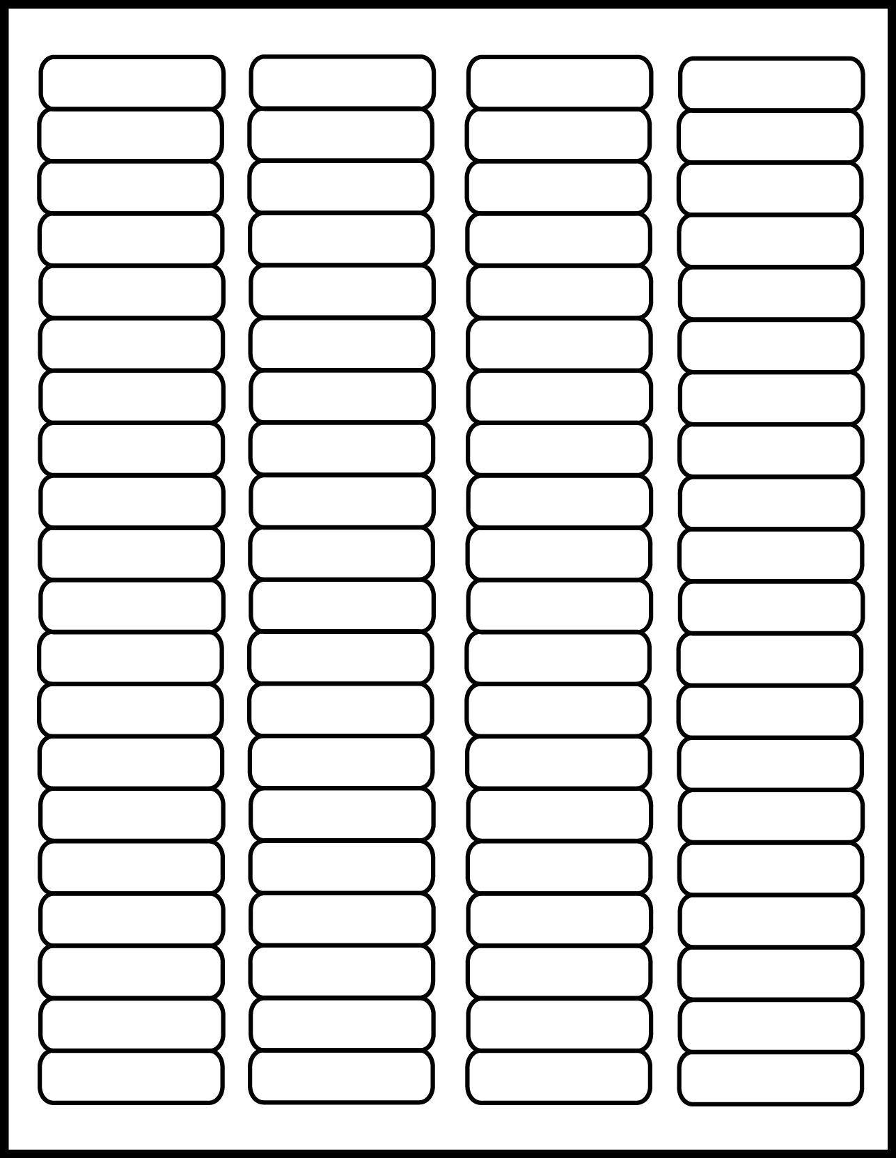 001 Phenomenal Free Return Addres Label Template 60 Per Sheet Sample Full