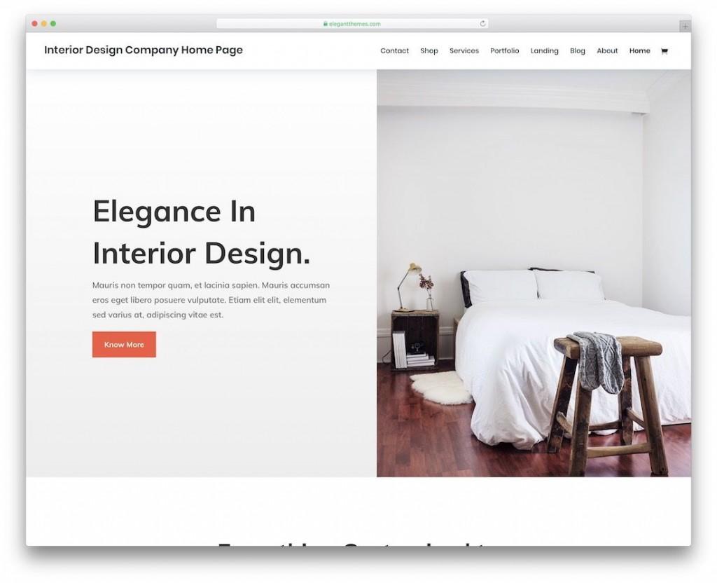 001 Phenomenal Interior Design Html Template Free Inspiration  DownloadLarge