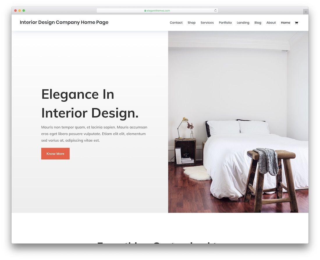 001 Phenomenal Interior Design Html Template Free Inspiration  DownloadFull