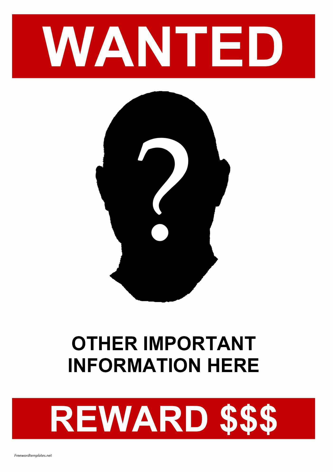 001 Phenomenal Missing Person Poster Template Word Highest Clarity Full