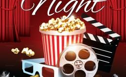001 Phenomenal Movie Night Flyer Template Design  Editable Psd Free