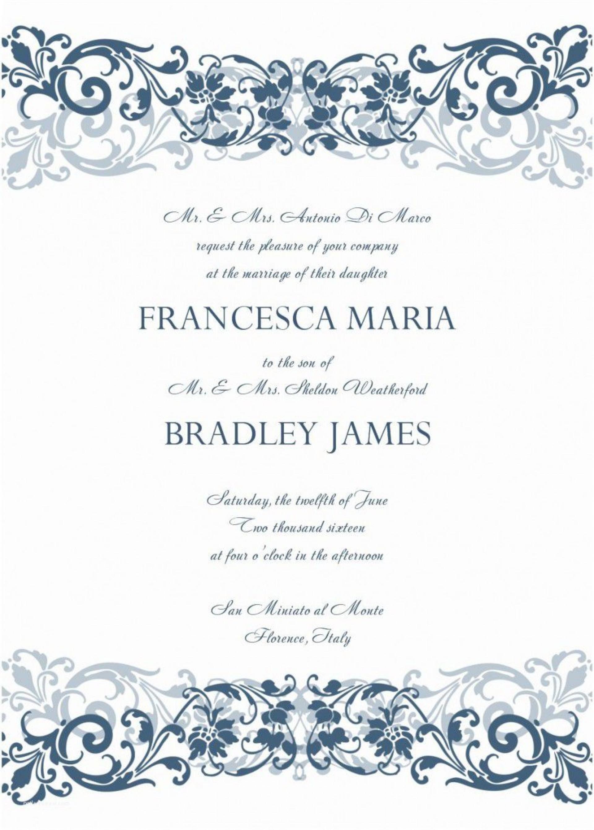 001 Phenomenal M Word Invitation Template Photo  Microsoft Card Wedding Free Download Editable1920