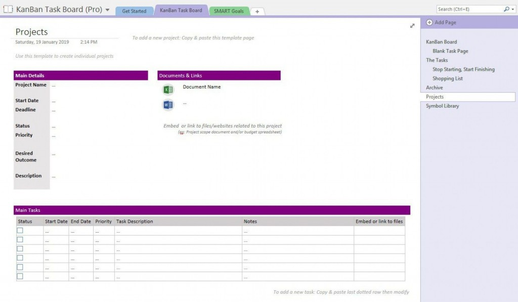 001 Phenomenal Onenote Project Planning Template Highest Clarity  ManagementLarge