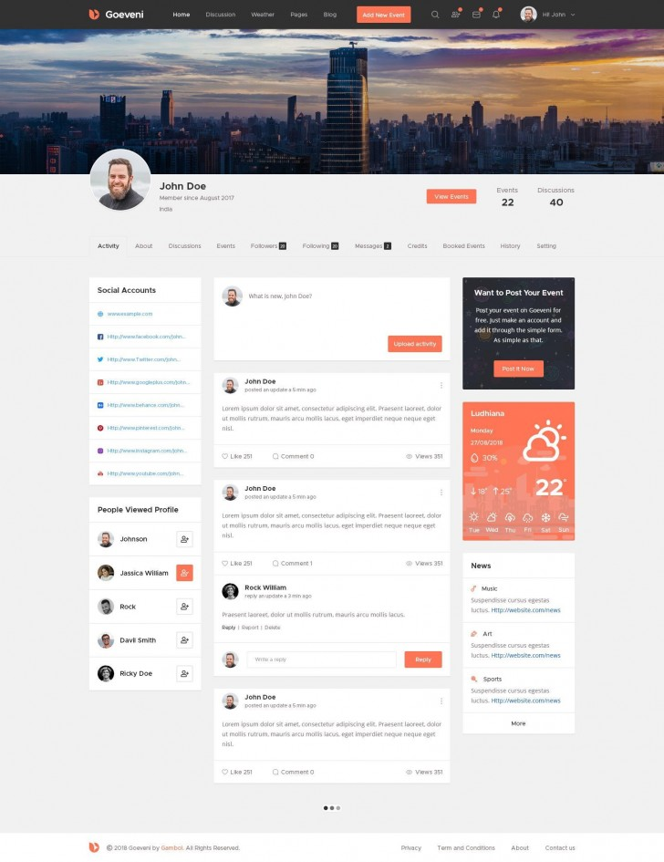 001 Phenomenal Social Media Website Template Inspiration  Html Wordpres728