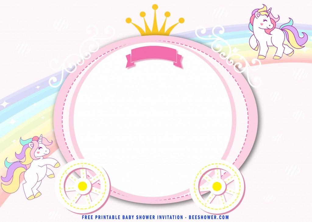 001 Phenomenal Unicorn Baby Shower Template Free Download Picture  Printable InvitationLarge