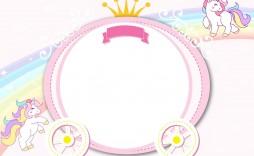 001 Phenomenal Unicorn Baby Shower Template Free Download Picture  Printable Invitation