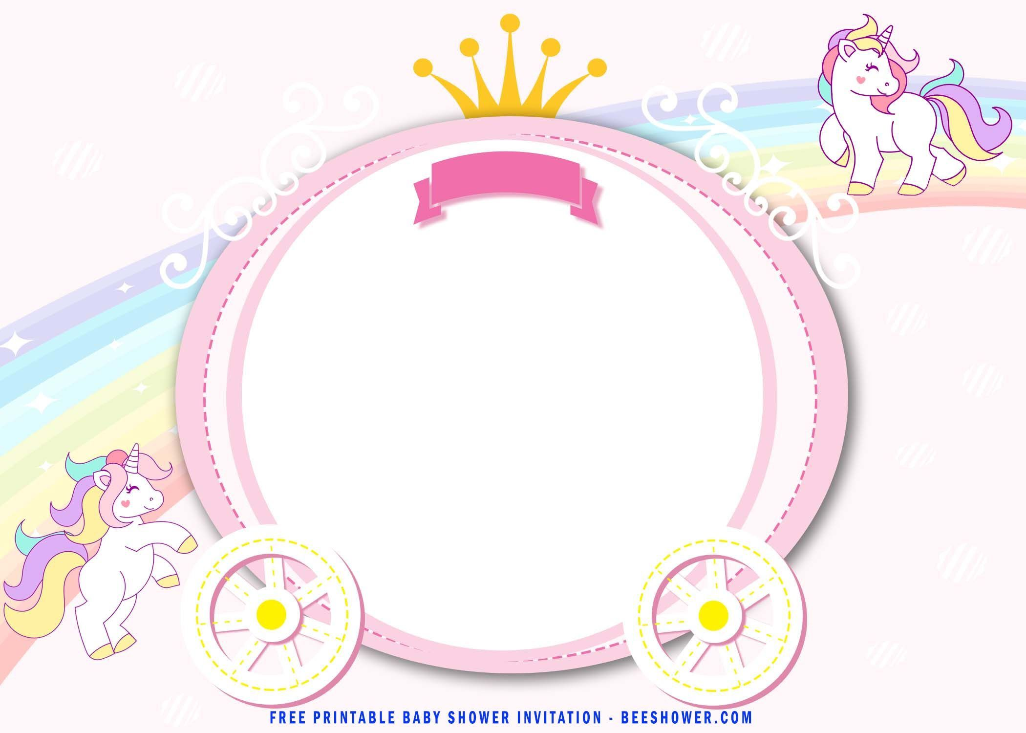 001 Phenomenal Unicorn Baby Shower Template Free Download Picture  Printable InvitationFull