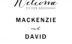 001 Phenomenal Wedding Welcome Sign Template Free High Definition