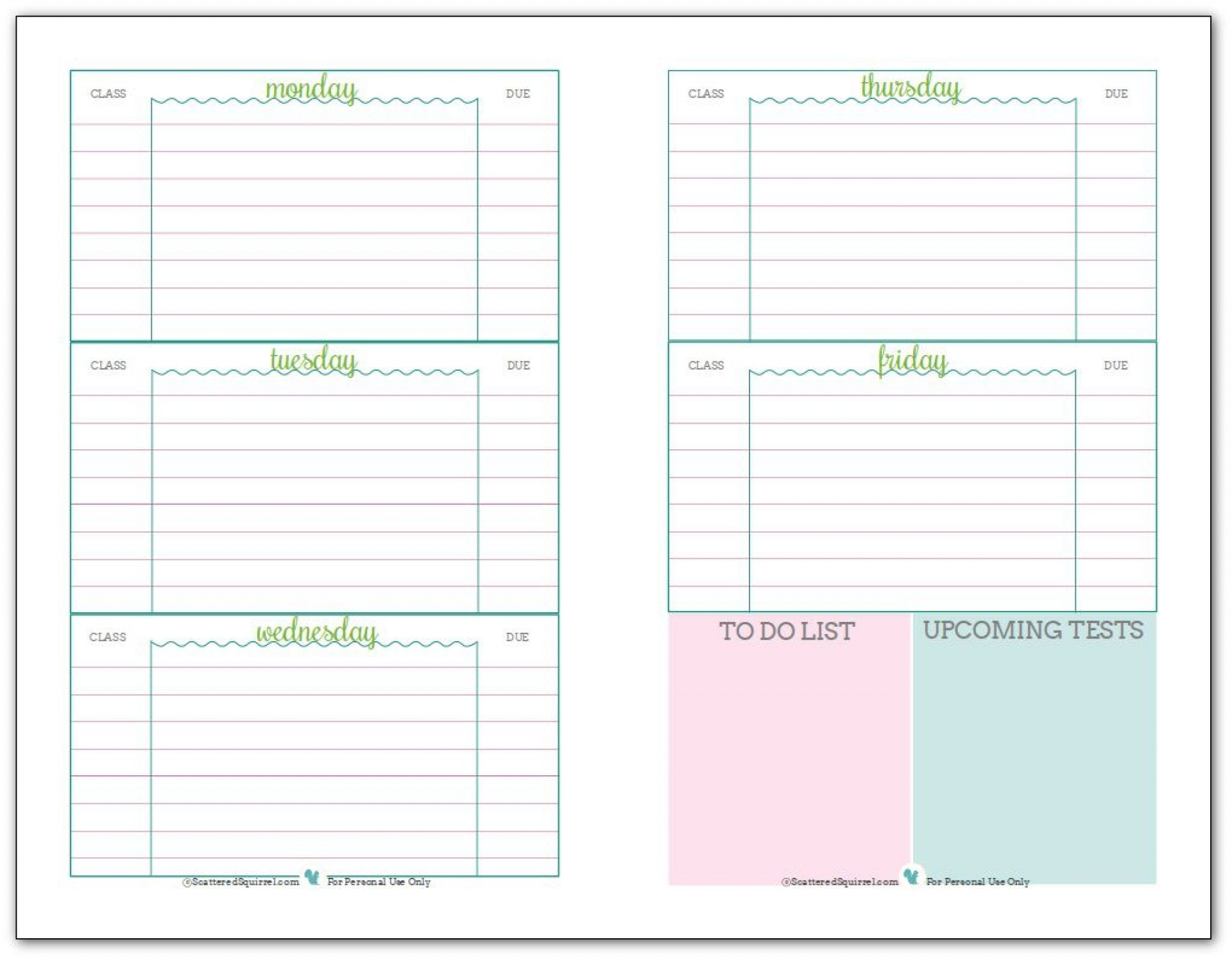 001 Phenomenal Weekly School Planner Template Sample  Lesson Plan Primary Planning Schedule Printable1920