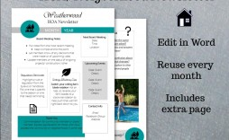 001 Phenomenal Word 2007 Newsletter Template Free Image