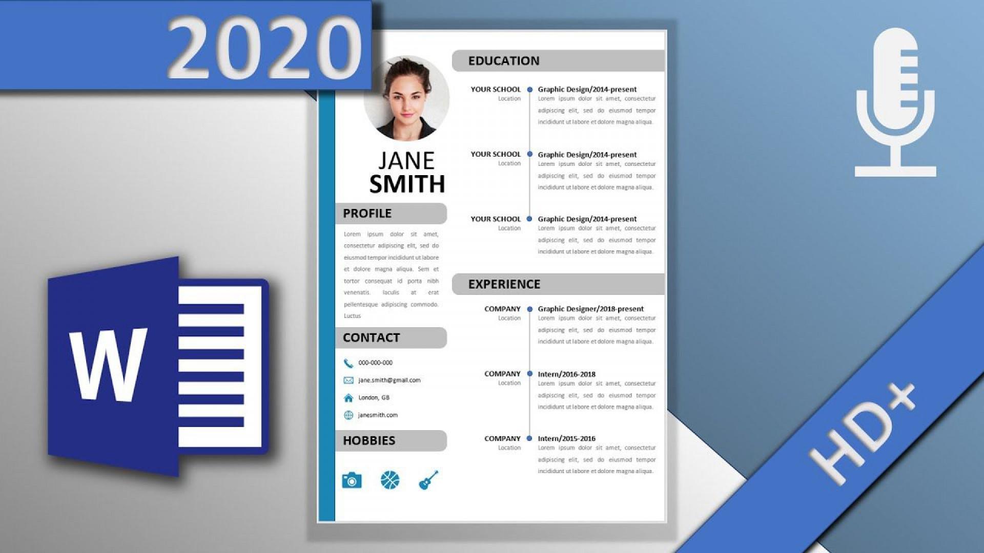 001 Phenomenal Word Resume Template 2020 High Def  Microsoft M1920