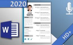 001 Phenomenal Word Resume Template 2020 High Def  Microsoft M