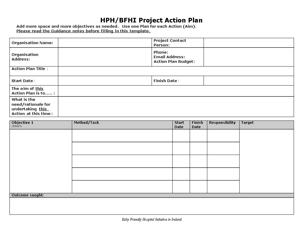 001 Rare Action Plan Template Word Photo  Example Safety CorrectiveFull