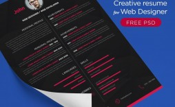 001 Rare Creative Resume Template Free Download Psd High Definition  Cv