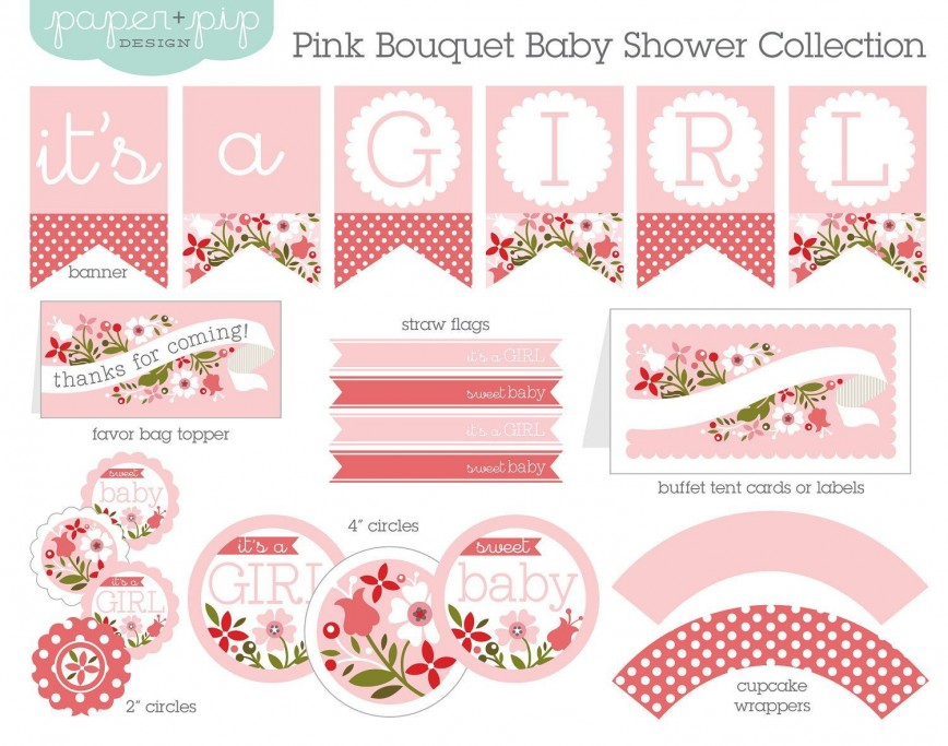 001 Rare Free Baby Shower Printable Girl High Definition  Invitation