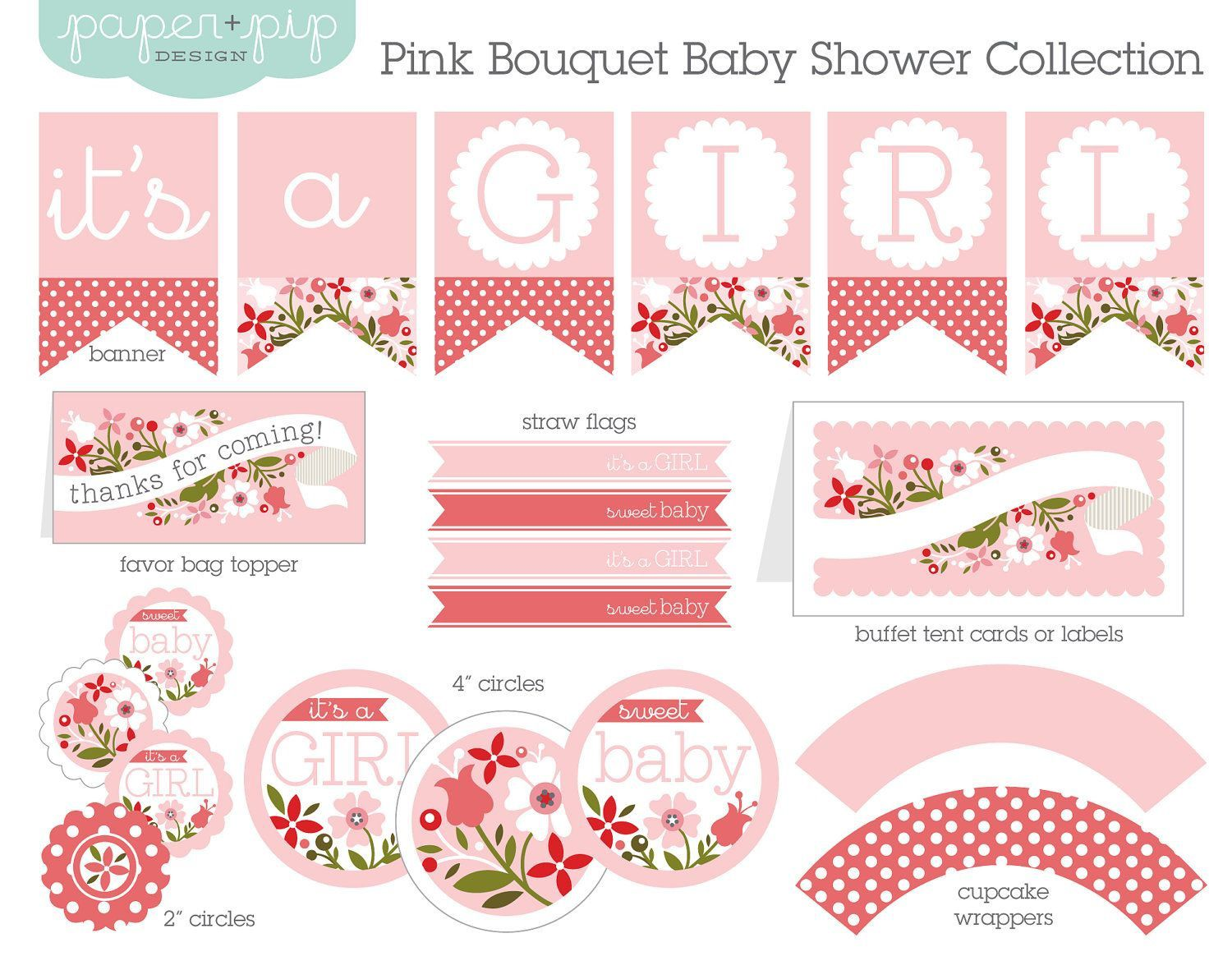 001 Rare Free Baby Shower Printable Girl High Definition  InvitationFull