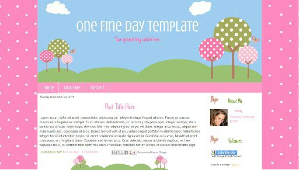 001 Rare Free Cute Blogger Template Highest Quality  TemplatesLarge